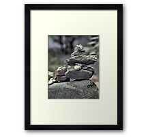 Stack of Rocks on the Trail (HDR) Framed Print