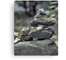 Stack of Rocks on the Trail (HDR) Canvas Print
