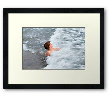 The happyness Framed Print