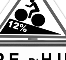 Alpe D'huez Cycling Road Sign Black and White Sticker