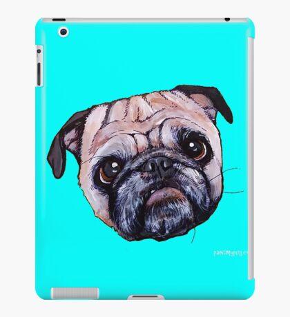 Butch the Pug - Cyan iPad Case/Skin