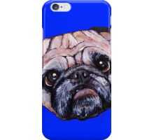Butch the Pug - Blue iPhone Case/Skin