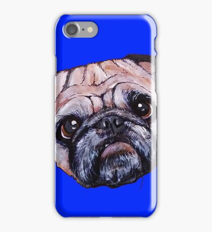 Butch the Pug - Blue iPhone Case/Skin