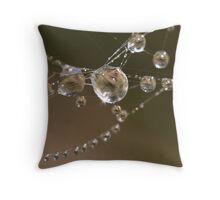 Spiderweb Necklace Throw Pillow
