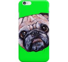 Butch the Pug - Green iPhone Case/Skin