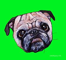 Butch the Pug - Green by PAINTMYPUG