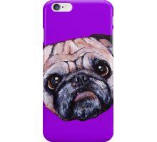 Butch the Pug - Purple iPhone Case/Skin