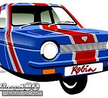 Reliant Robin Union Jack by car2oonz