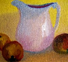 Old Pitcher with Peaches in Oils by suzannem73