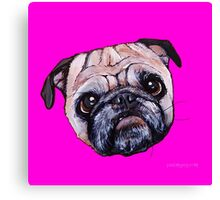 Butch the Pug - Pink Canvas Print