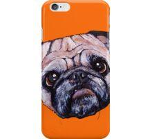 Butch the Pug - Orange iPhone Case/Skin
