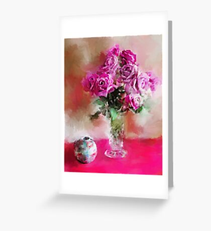 Charles de Gaulle Roses Greeting Card
