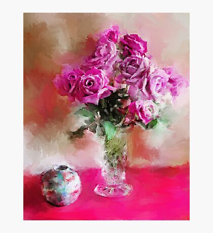 Charles de Gaulle Roses Photographic Print
