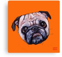 Butch the Pug - Orange Canvas Print