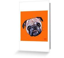 Butch the Pug - Orange Greeting Card