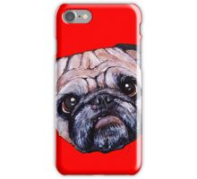 Butch the Pug - Red iPhone Case/Skin
