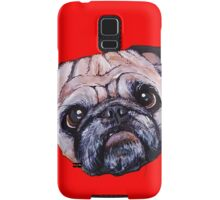 Butch the Pug - Red Samsung Galaxy Case/Skin