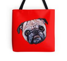 Butch the Pug - Red Tote Bag