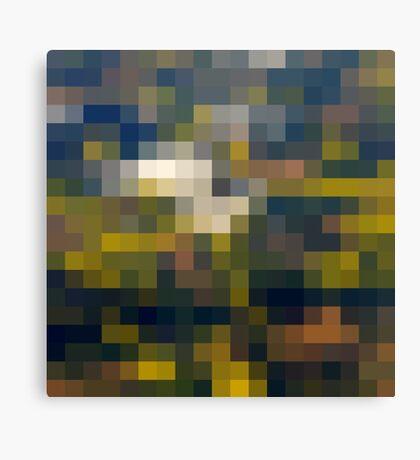 Fields' grid Canvas Print
