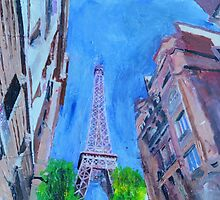 Paris, The Tower Looms by Andrew Reid Wildman