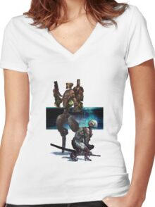Hunter-Killer Robotics I Women's Fitted V-Neck T-Shirt