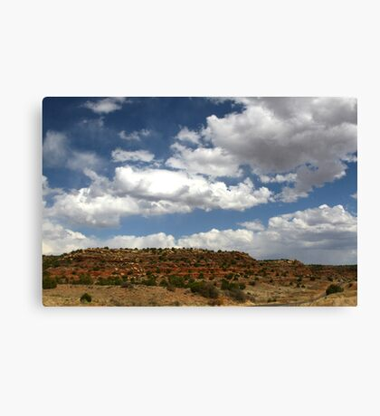 RED BLUFFS IN NEW MEXICO Canvas Print