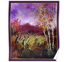 poplars in autumn Poster