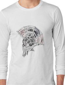 Punk Skull - plain Long Sleeve T-Shirt