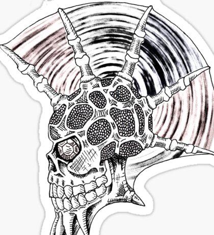 Punk Skull - plain Sticker