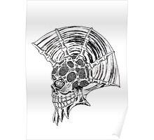 Punk Skull - plain Poster