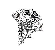 Punk Skull - plain Photographic Print