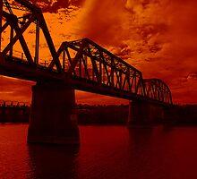 Burnt Orange Bridge by AlexMac
