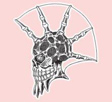 Punk Skull - bordered Kids Tee