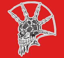 Punk Skull - bordered One Piece - Short Sleeve