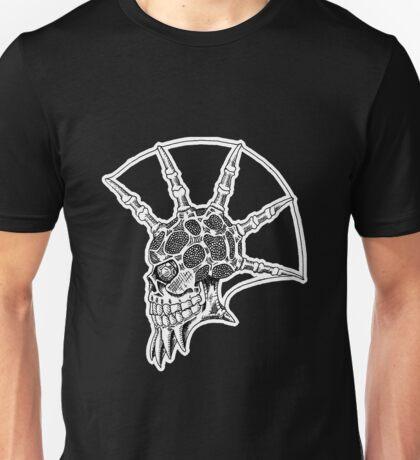 Punk Skull - bordered Unisex T-Shirt