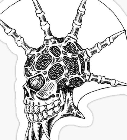 Punk Skull - bordered Sticker