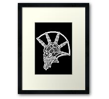 Punk Skull - bordered Framed Print