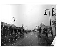 Rain Falls in Tarpon Springs Poster