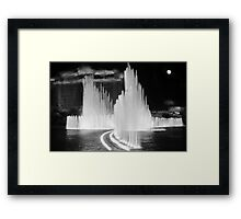 Flowing Fountains Framed Print