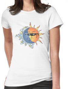 Sun n Moon Womens Fitted T-Shirt
