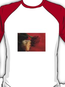 Red and White rose T-Shirt