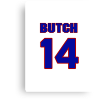National Hockey player Butch Paul jersey 14 Canvas Print
