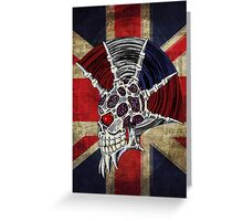 Union Jack Punk Skull Greeting Card