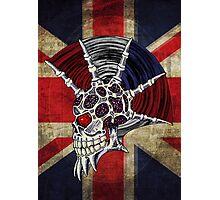 Union Jack Punk Skull Photographic Print