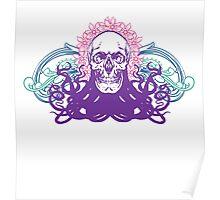Skull octopus print Poster