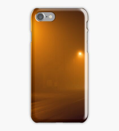 Road in a very foggy night iPhone Case/Skin