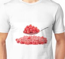 Red currant on white background Unisex T-Shirt