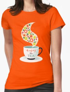 Enjoy the Tea Womens Fitted T-Shirt