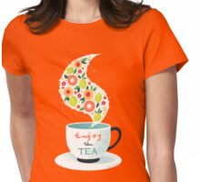 Enjoy the Tea Womens Fitted T-Shirt