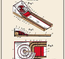 Skee Ball Patent - Colour by FinlayMcNevin
